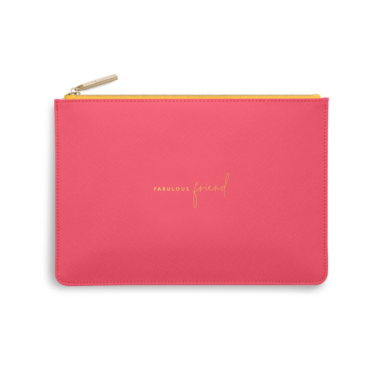 Color Pop Perfect Pouch Fabulous Friend In Fuchsia And Ochre