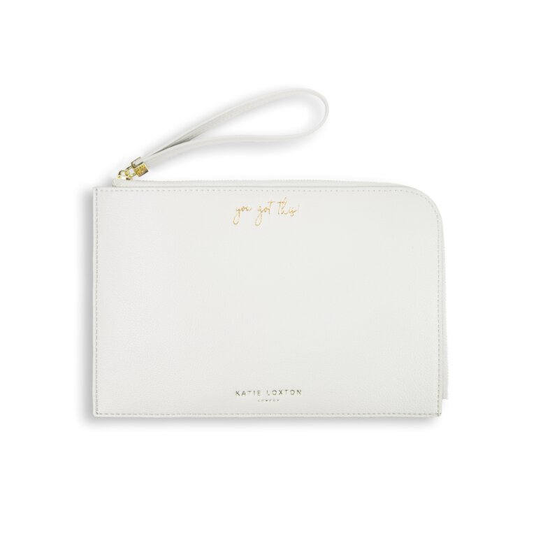 Secret Message Pouch You Got This! In Off White