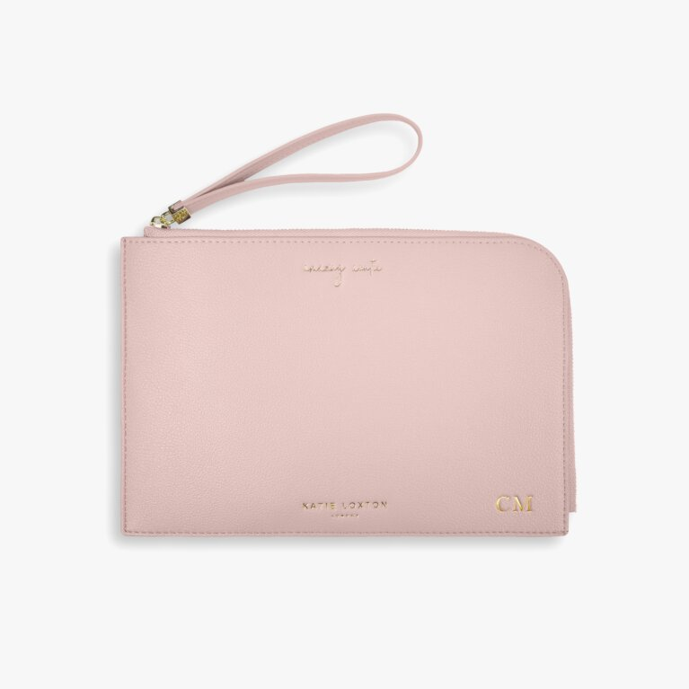 Secret Message Pouch | Amazing Auntie | Pale Pink