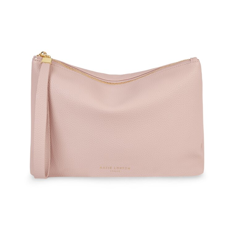 Isla Clutch In Pale Pink