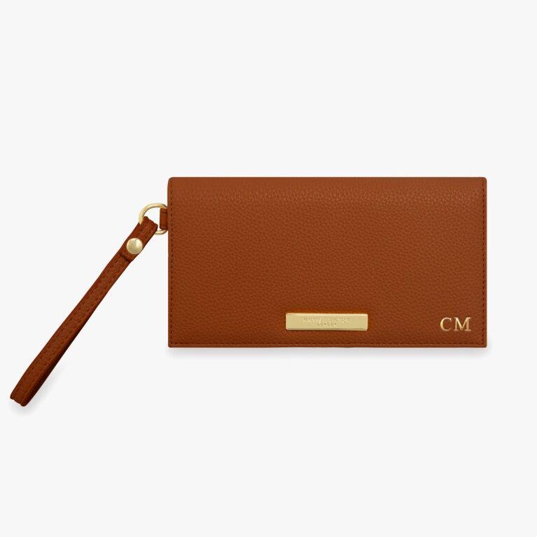 Cleo Wristlet | Cognac