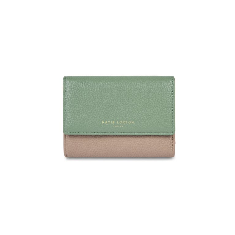 Casey Purse In Taupe And Mint Green