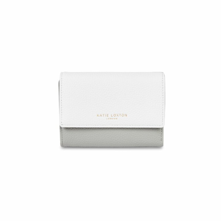 Casey Wallet | Gray and Off White