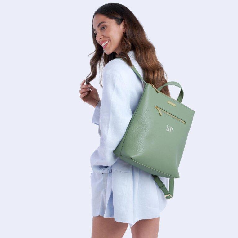 Brooke Backpack In Mint Green