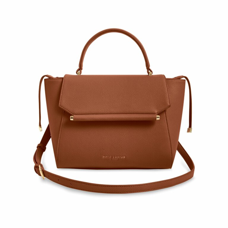 Ava Top Handle Bag | Cognac