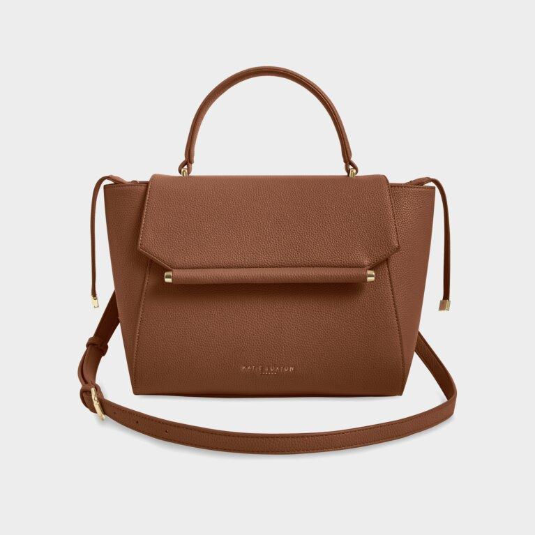Ava Top Handle Bag In Cognac