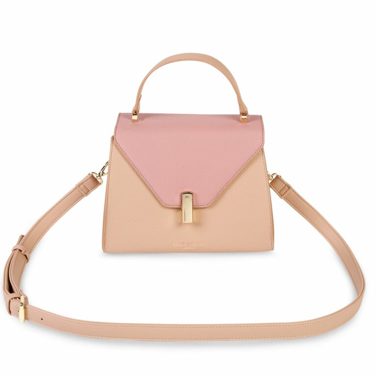 Casey Top Handle Bag | Pale Pink and Dark Pink