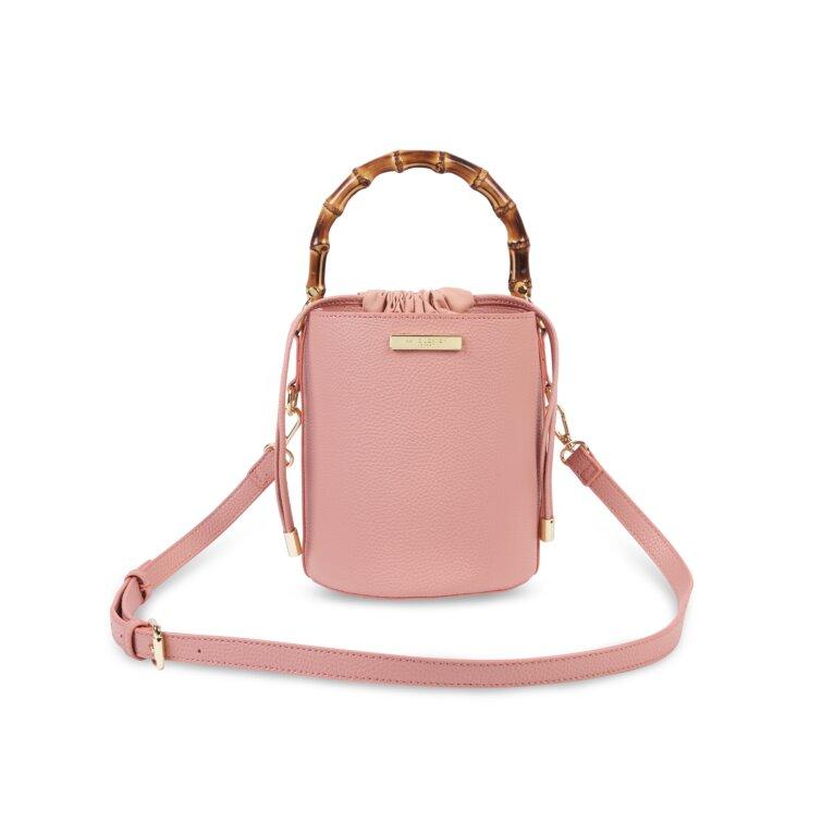 Jourdan Cylinder Bamboo Bag In Pink