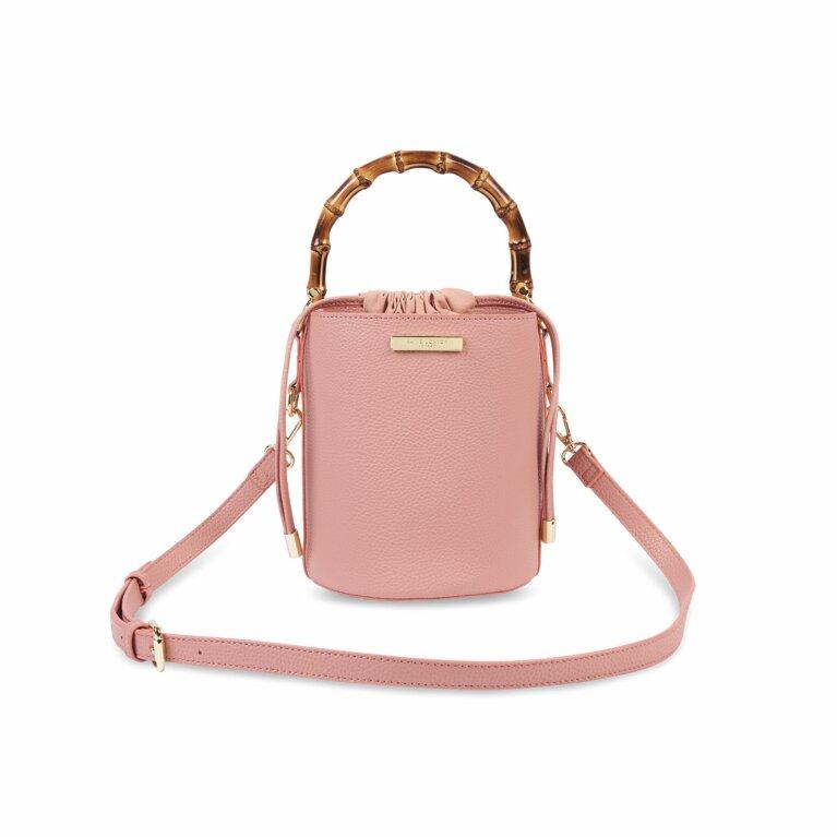 Jourdan Cylinder Bamboo Bag | Pink