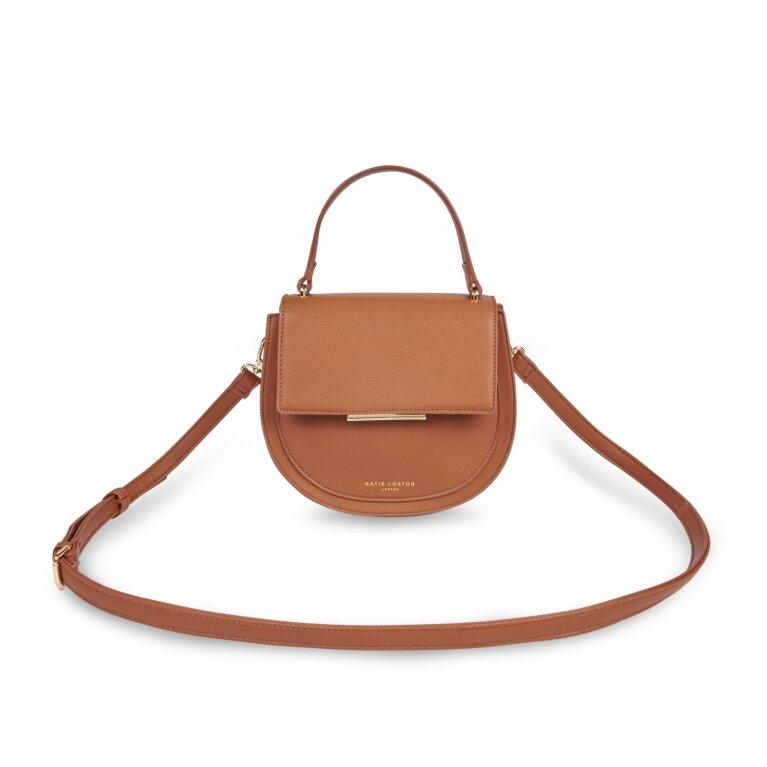 Alyce Saddle Bag In Cognac