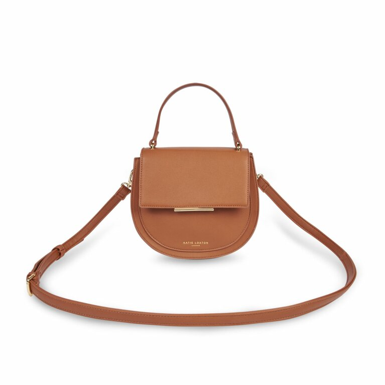Alyce Saddle Purse | Cognac