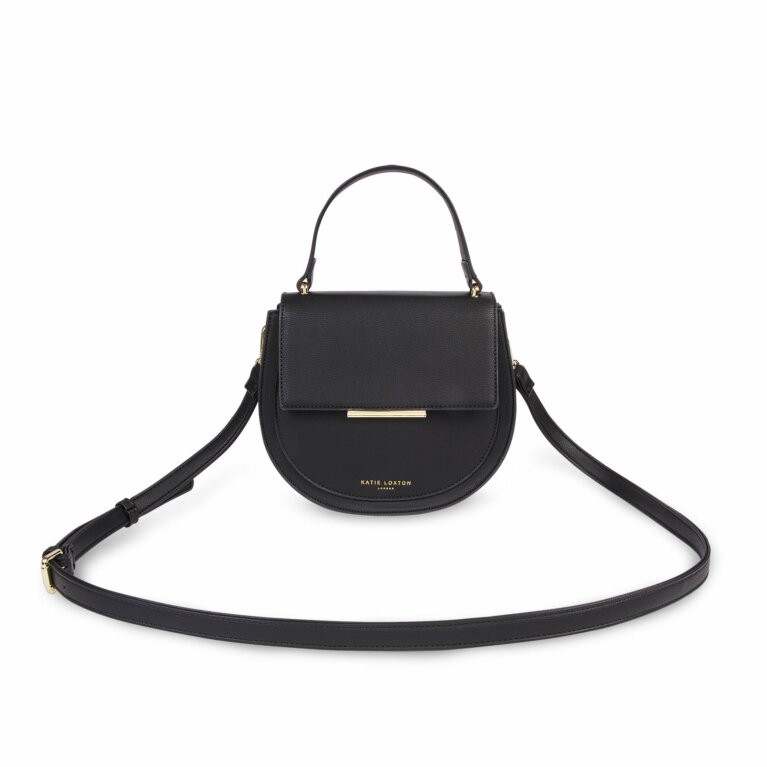 Alyce Saddle Purse | Black