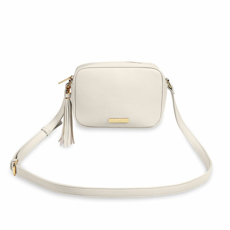 Sophia Tassel Crossbody Bag | Off White