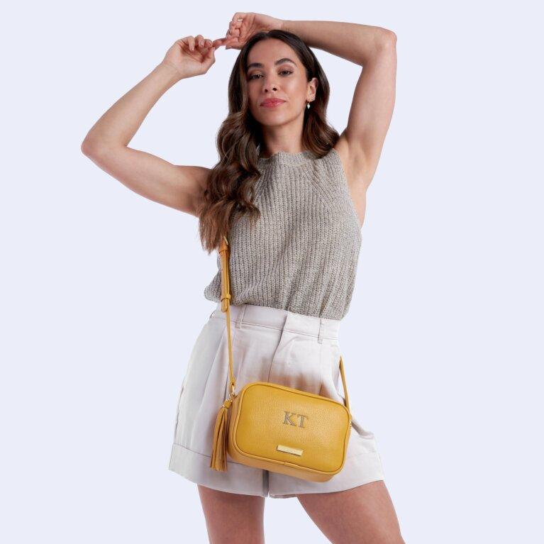 Sophia Tassel Crossbody Bag In Ochre