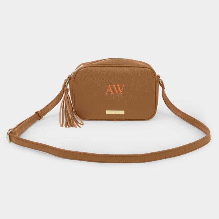 Sophia Tassel Crossbody Bag In Cognac