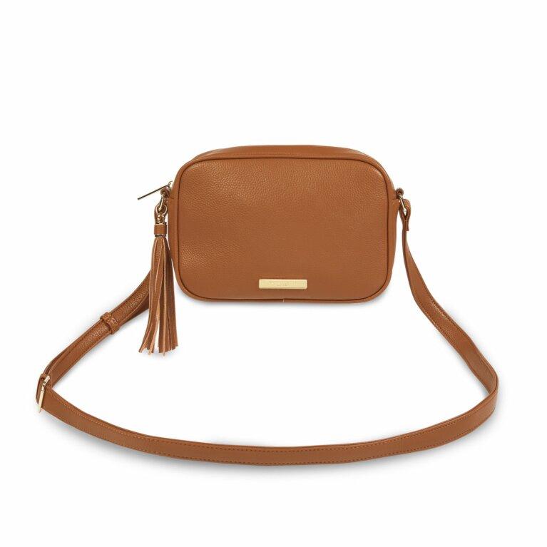 Sophia Tassel Crossbody Bag | Cognac