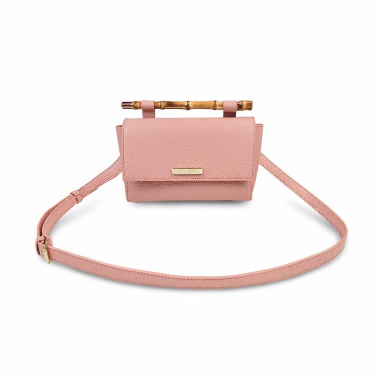 Gigi Bamboo Handle Crossbody Bag | Pink