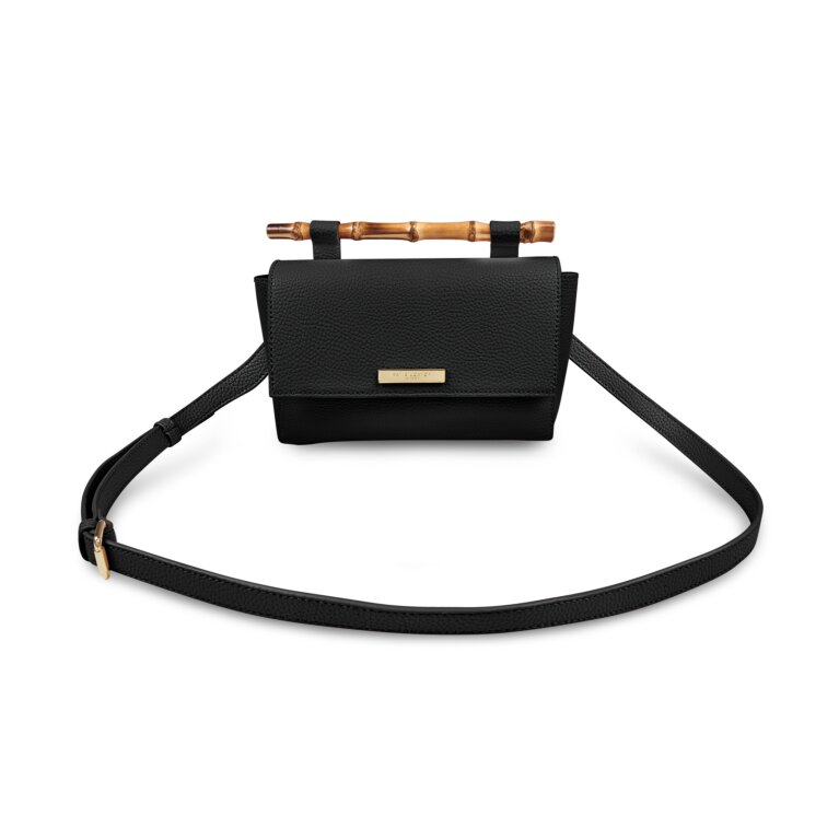 Gigi Bamboo Handle Crossbody Bag In Black