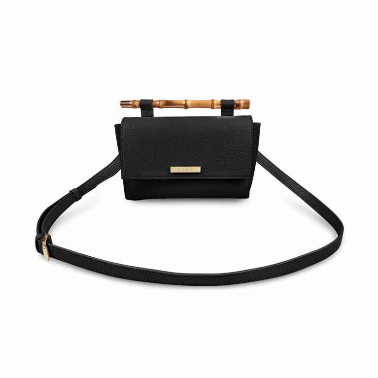 Gigi Bamboo Handle Crossbody Bag | Black
