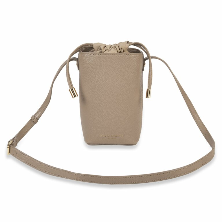 Cece Drawstring Crossbody Bag | Taupe