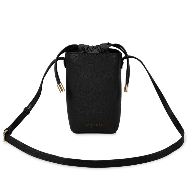 Cece Drawstring Crossbody Bag In Black