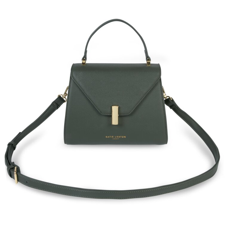 Casey Top Handle Bag Sustainable Style In Khaki