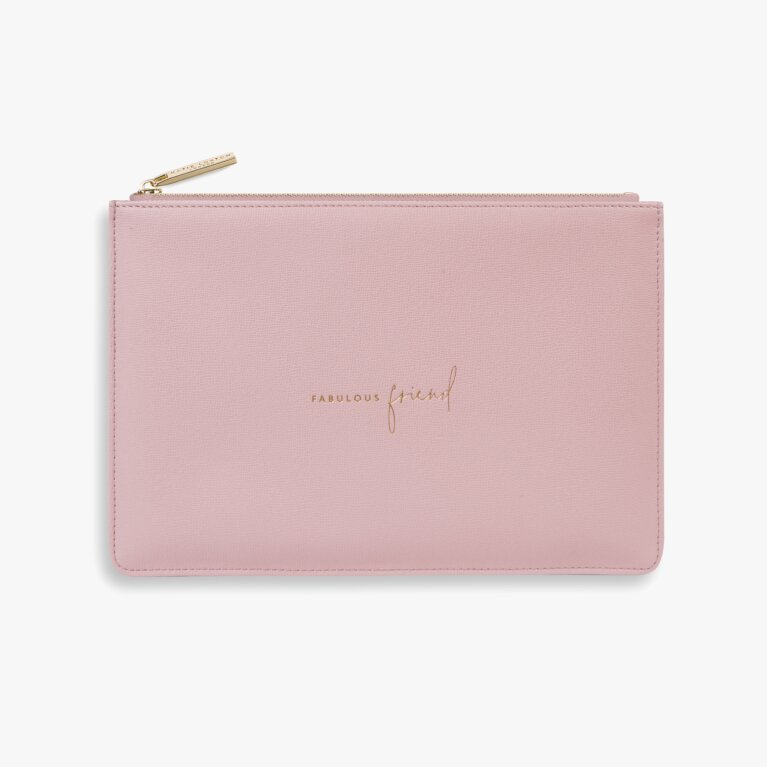 Perfect Pouch Sustainable Style Fabulous Friend In Dark Pink
