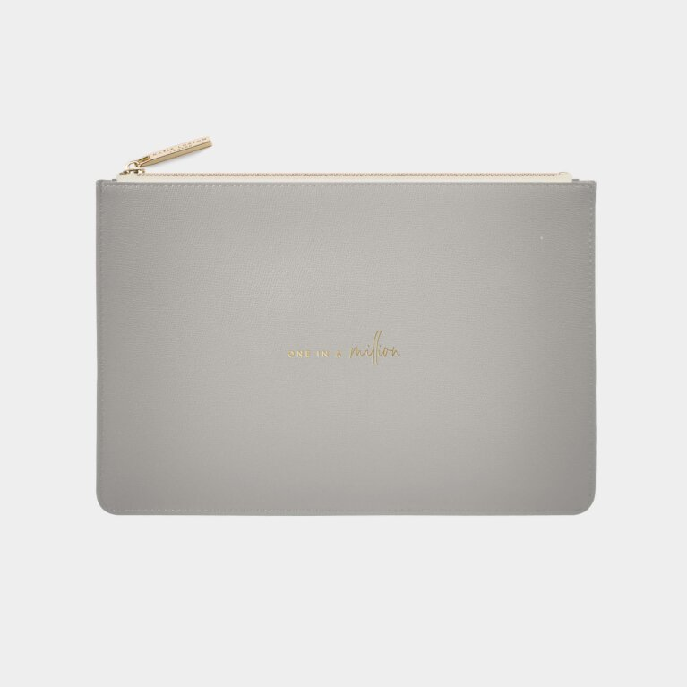 Perfect Pouch Sustainable Style One In A Million In Grey
