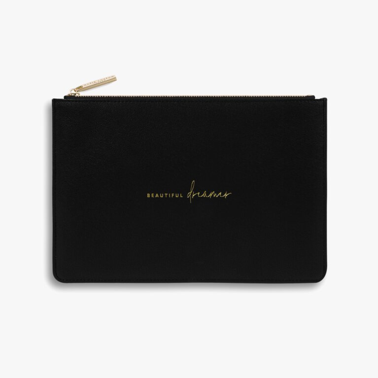 Perfect Pouch Sustainable Style Beautiful Dreamer In Black