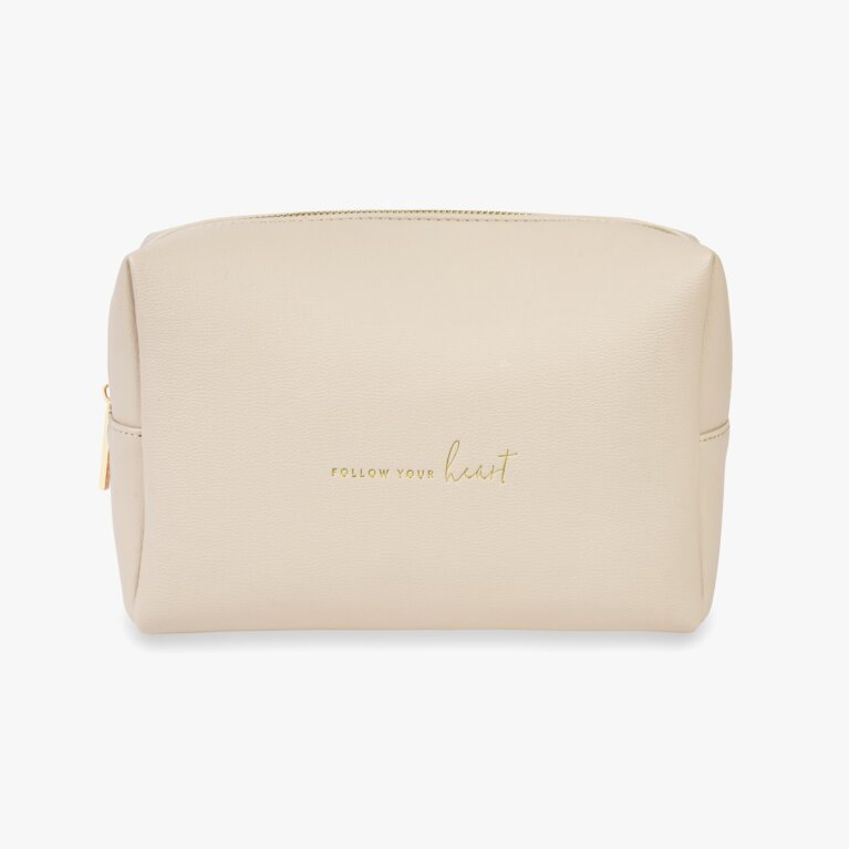 Colour Pop Wash Bag | Follow Your Heart | Nude