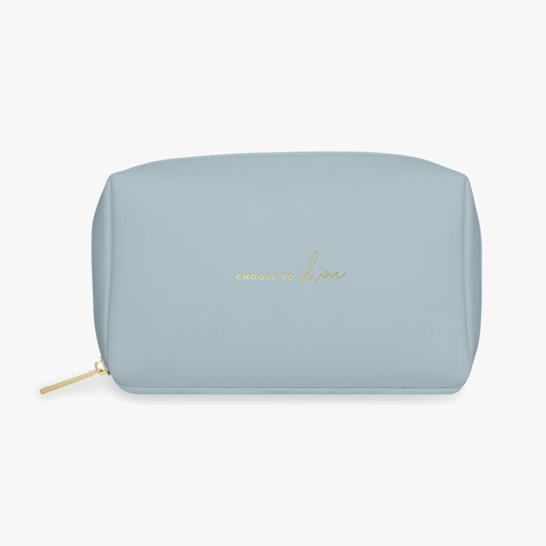 Colour Pop Make up Bag | Choose To Shine | Blue