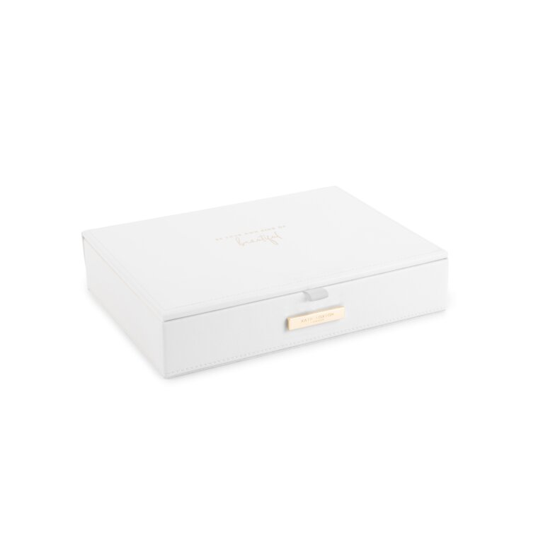 Large Jewelry Box Be Your Own Kind Of Beautiful In White