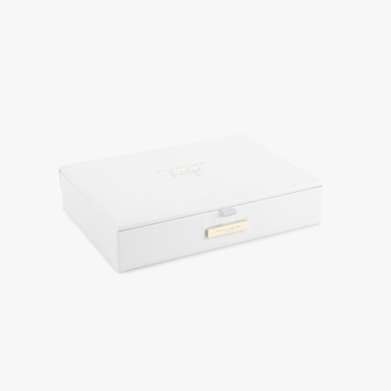 Large Jewellery Box Be Your Own Kind Of Beautiful In White