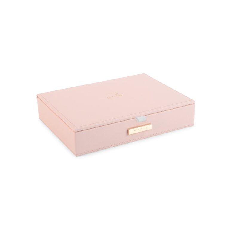Large Jewelry Box Live Love Sparkle In Pink