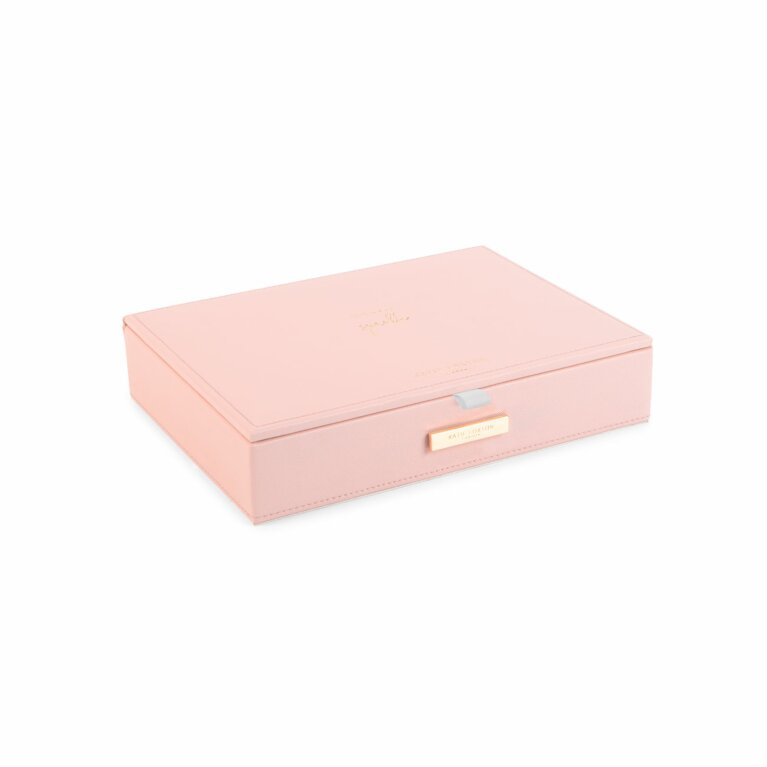 Large Jewellery Box | Live Love Sparkle | Pink