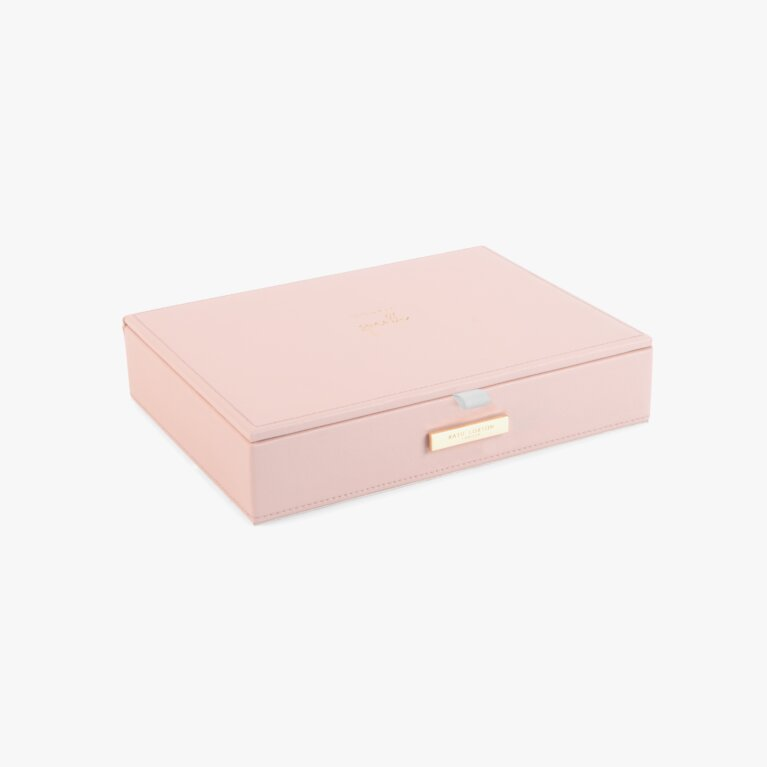 Large Jewellery Box Live Love Sparkle In Pink