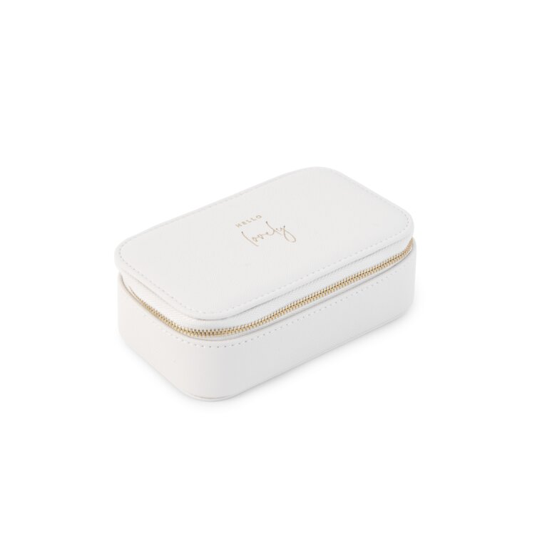 Medium Jewelry Box Hello Lovely In White