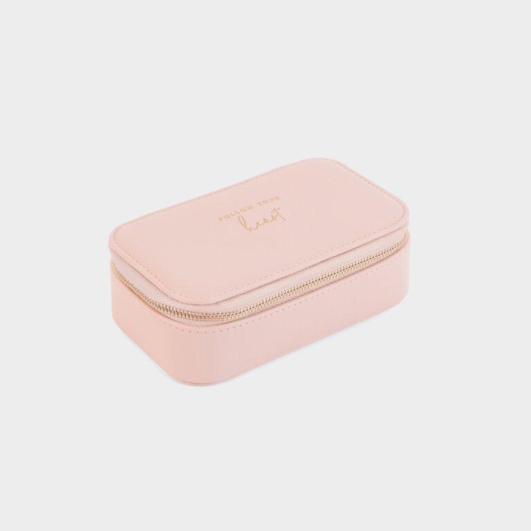 Medium Jewellery Box Follow Your Heart In Pink