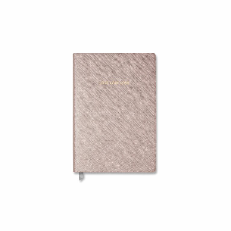 Small Notebook | Love Love Love Metallic Rose Gold