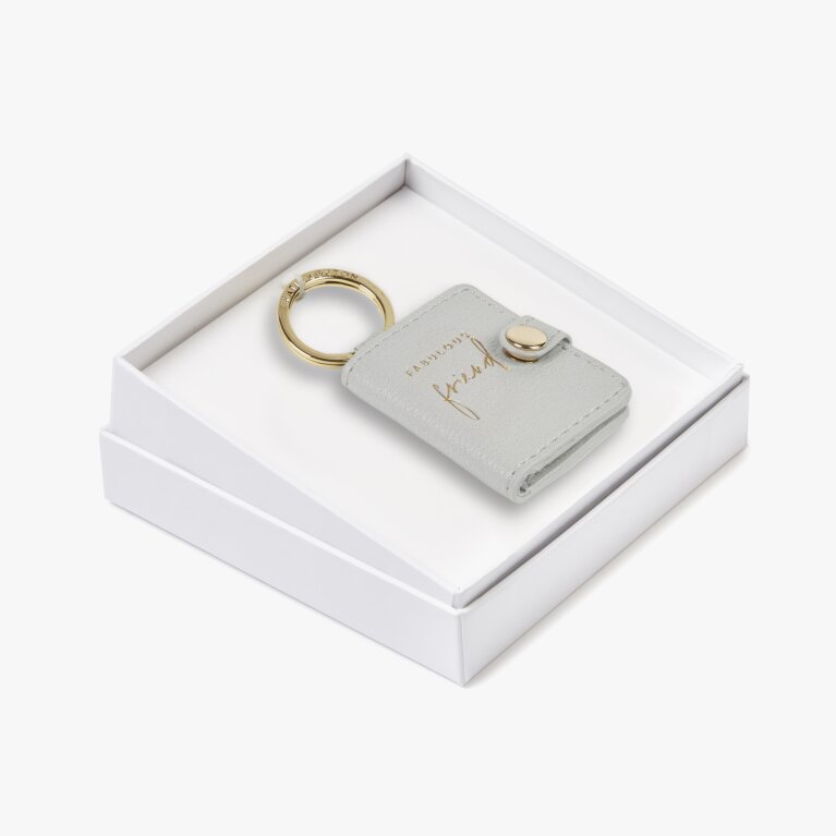 Beautifully Boxed Photo Keyring Fabulous Friend In Grey