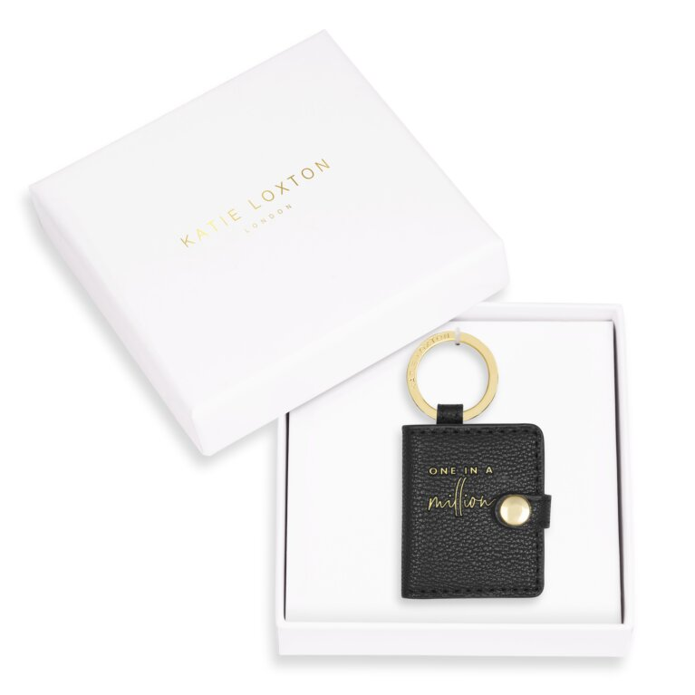 Beautifully Boxed Photo Keyring One In A Million In Black