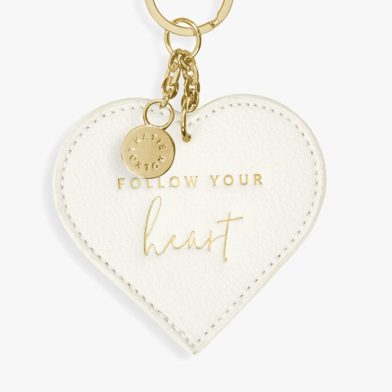 Chain Keyring Follow Your Heart Inoff White