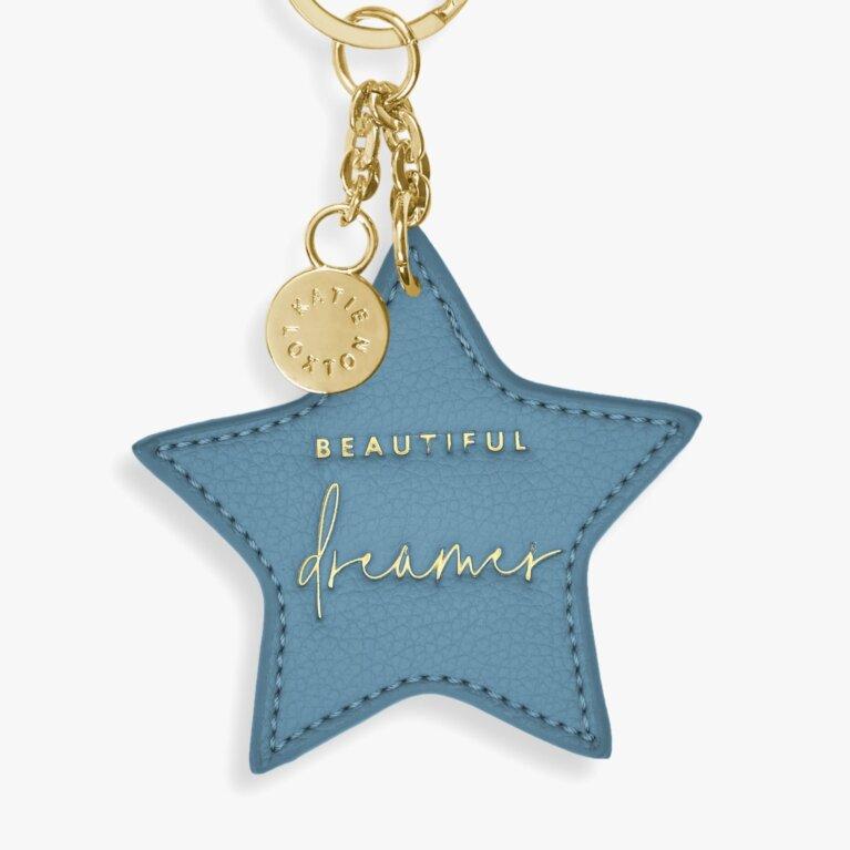 Chain Keyring Beautiful Dreamer In Blue