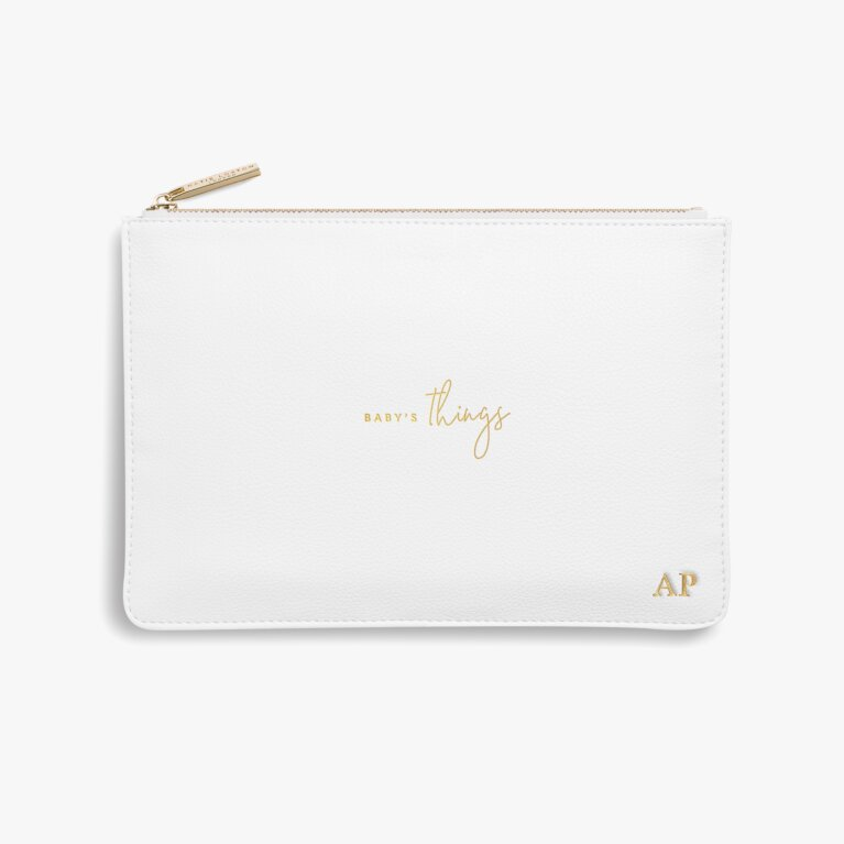 Perfect Pouch Baby's Things In White