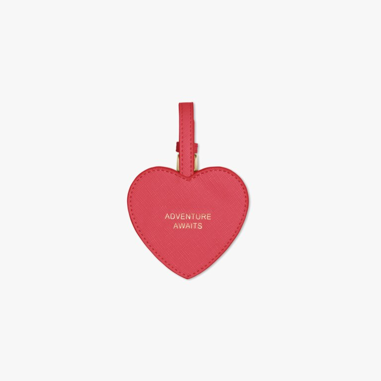 Heart Luggage Tag | Adventure Awaits | Fuchsia Pink