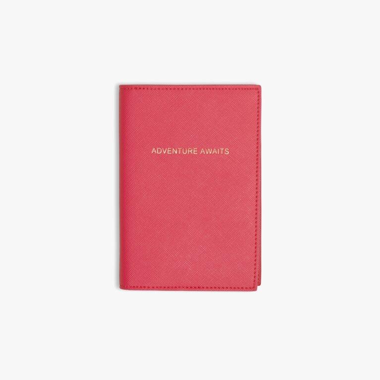 Passport Cover | Adventure Awaits | Fuchsia Pink