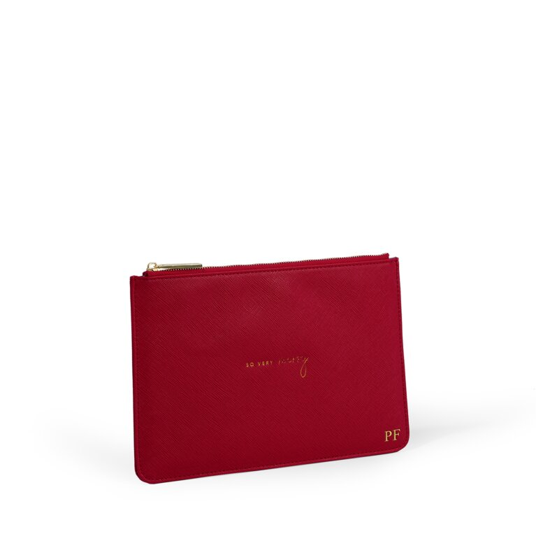 Perfect Pouch So Very Merry in Red