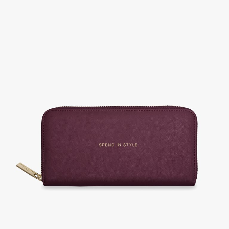 Large Purse | Spend In Style | Burgundy