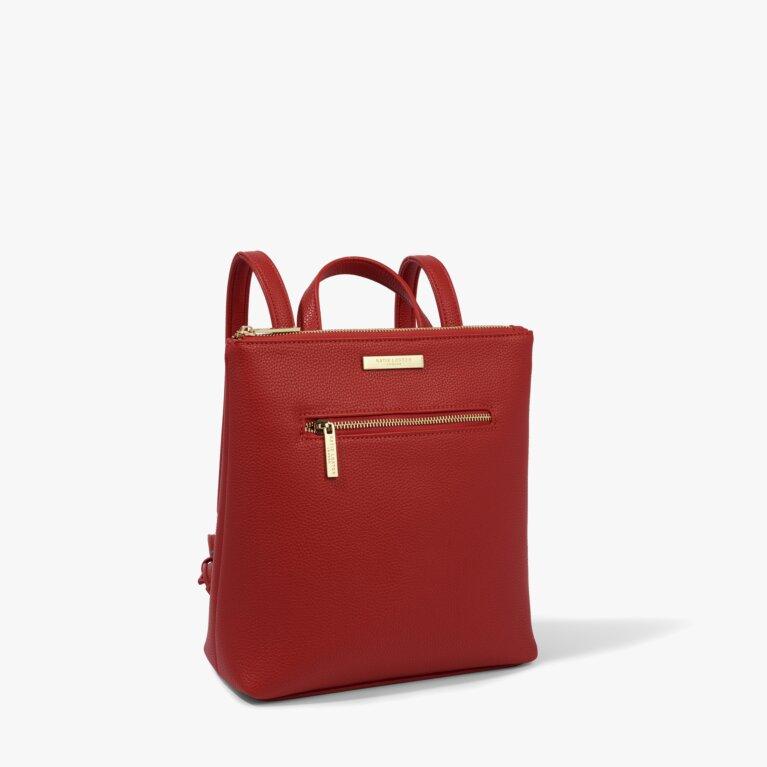 Mini Brooke Backpack in Red