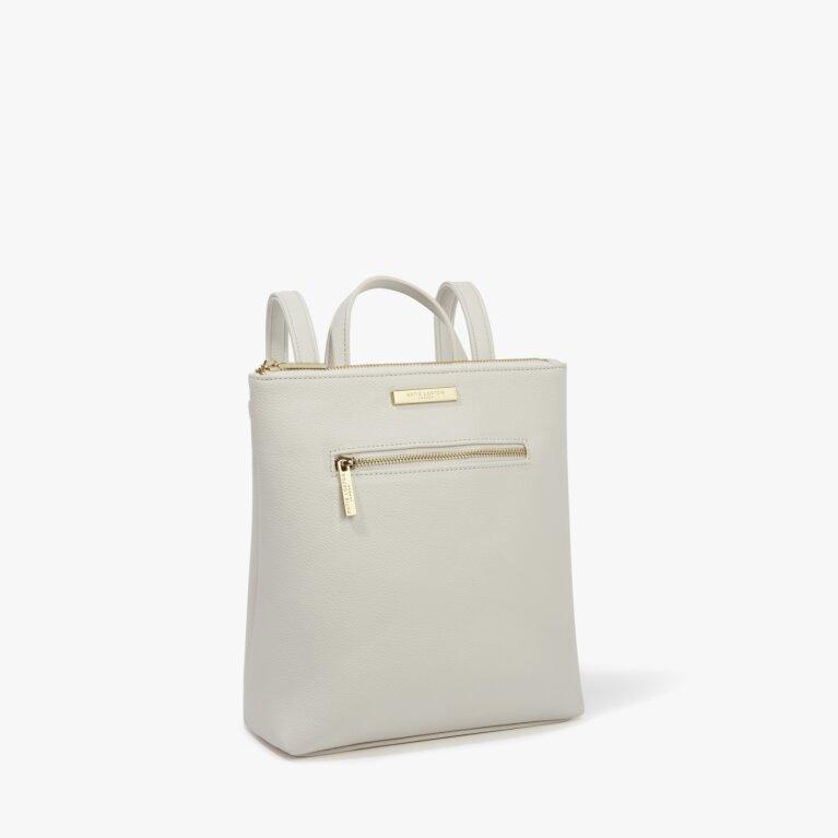 Mini Brooke Backpack in Off White